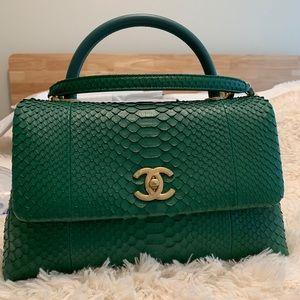 Chanel Coco Handle, exotic skin (green emerald)